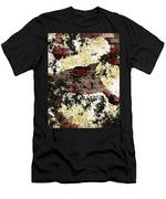 Decadent Urban Red Bricks Painted Grunge Abstract Men's T-Shirt (Athletic Fit)