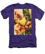 Decorated Organic Vegetables Men's T-Shirt (Athletic Fit)