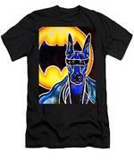 Dog Superhero Bat Men's T-Shirt (Athletic Fit)