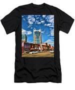 Downtown Nashville Blue Sky Men's T-Shirt (Athletic Fit)