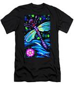 Dragonfly And Water Lily Men's T-Shirt (Athletic Fit)