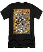 Drawing Composition Abstract Men's T-Shirt (Athletic Fit)