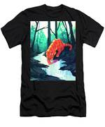 Drinking At The Stream Men's T-Shirt (Athletic Fit)