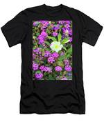 Dune Primrose Oenothera Deltoides And Purple Sand Verbena Men's T-Shirt (Athletic Fit)
