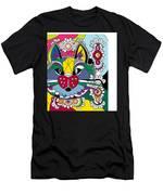 Eclectic Cat Men's T-Shirt (Athletic Fit)