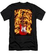Electric Guitar With Sparks Men's T-Shirt (Athletic Fit)
