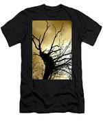 Electric Tree Black And Gold Men's T-Shirt (Athletic Fit)