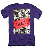 Event Ticket Lying On Pile Of Popcorn Men's T-Shirt (Athletic Fit)