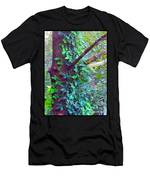 Evergreen Tree With Green Vine Men's T-Shirt (Athletic Fit)