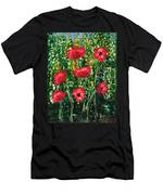 Every Dream Turns Up Poppies Men's T-Shirt (Athletic Fit)