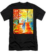 Fall Walk Men's T-Shirt (Athletic Fit)