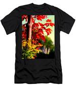 Fiery Red Autumn Men's T-Shirt (Athletic Fit)