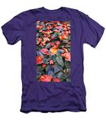 Flamingo Flower Bed Men's T-Shirt (Athletic Fit)