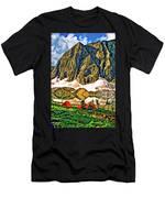 Floe Lake Painted Men's T-Shirt (Athletic Fit)