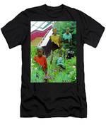 Flower Dome 34 Men's T-Shirt (Athletic Fit)