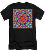Flower Mandala 4 Men's T-Shirt (Athletic Fit)