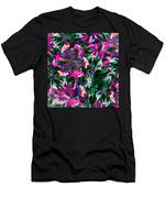 Fractal Floral Riot Men's T-Shirt (Athletic Fit)