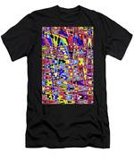 Freeway Of Colors Abstract Men's T-Shirt (Athletic Fit)