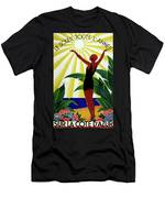 French Riviera, Girl On The Beach, France Men's T-Shirt (Athletic Fit)