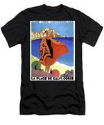French Riviera, Woman On The Beach, Paris, Lyon, Mediterranean Railway Men's T-Shirt (Athletic Fit)