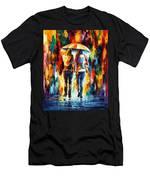 Friends Under The Rain Men's T-Shirt (Athletic Fit)