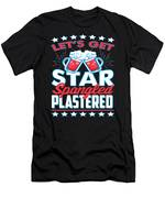 Funny Alcohol Fireworks Fourth July Gift 4th July Independence Day Men's T-Shirt (Athletic Fit)