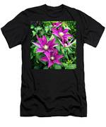 Fushia Clematis Flowers Men's T-Shirt (Athletic Fit)
