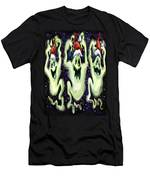 Ghostly Christmas Trio Men's T-Shirt (Athletic Fit)
