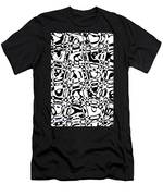 Gibberish Black And White Abstract Men's T-Shirt (Athletic Fit)