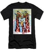 Giraffe Family Men's T-Shirt (Athletic Fit)