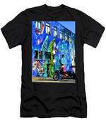 Girl And The Wall Men's T-Shirt (Athletic Fit)