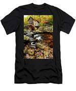 Glade Creek Grist Mill Fall  Men's T-Shirt (Athletic Fit)