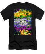 Glorious Pansies Men's T-Shirt (Athletic Fit)