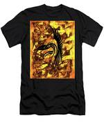 Golden Flight Contemporary Abstract Men's T-Shirt (Athletic Fit)