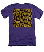 Golden Leaf Pattern Men's T-Shirt (Athletic Fit)