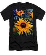 Golden Sunflower Burst Men's T-Shirt (Athletic Fit)