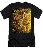 Golden Texture Abstract Men's T-Shirt (Athletic Fit)