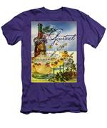 Gourmet Cover Featuring A Bowl And Glasses Men's T-Shirt (Athletic Fit)
