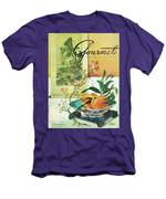 Gourmet Cover Featuring A Bowl Of Peaches Men's T-Shirt (Athletic Fit)
