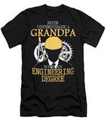 Grandpa Engineer Men's T-Shirt (Athletic Fit)