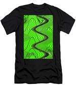 Green Grass Behind The Fence Men's T-Shirt (Athletic Fit)