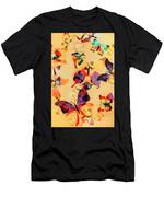 Group Of Butterflies With Colorful Wings Men's T-Shirt (Athletic Fit)