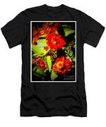 Group Of Small Red Zinnia's Men's T-Shirt (Athletic Fit)