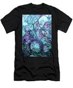 Grunge Sea Coral Abstract Men's T-Shirt (Athletic Fit)
