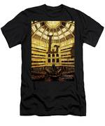 Grungy Melbourne Australia Alphabet Series Letter L State Librar Men's T-Shirt (Athletic Fit)