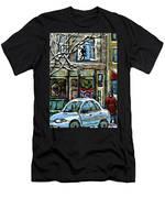 Achetez Les Meilleurs Scenes De Rue Montreal St Henri Cafe Original Montreal Street Scene Paintings Men's T-Shirt (Athletic Fit)