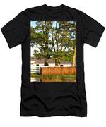 Hay Bales And Trees Men's T-Shirt (Athletic Fit)