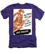 He's A Fighting Fool - More Production Men's T-Shirt (Athletic Fit)