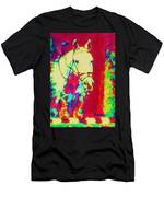 Horse Painting Jumper No Faults Psychedelic Men's T-Shirt (Athletic Fit)