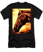 horse portrait PRINCETON brown tones Men's T-Shirt (Athletic Fit)
